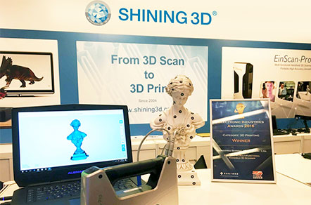SHINING 3D EinScan-Pro 3D Scanner Named Winner of 2016 Electronic Industries Award